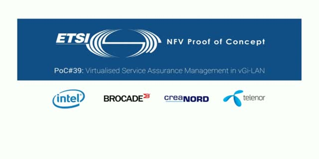 NFV PoC #39 - Virtualized Service Assurance Management in vGi-LAN