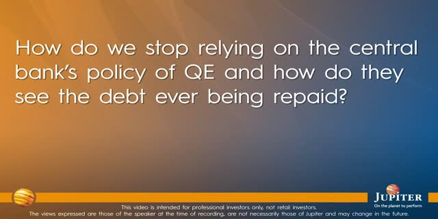 How do we stop relying on the central bank's policy of QE?