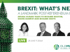 A landmark post-referendum event - LIVE video interview