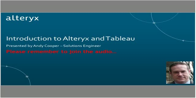 An Introduction to Alteryx and Tableau