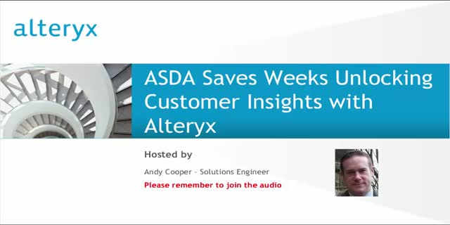 ASDA Saves Weeks Unlocking Customer Insights with Alteryx