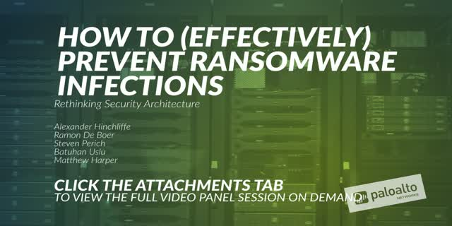 Preview 2: How To (Effectively) Prevent Ransomware Infections