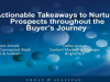 Actionable Takeaways to Nurture Prospects throughout the Buyer's Journey