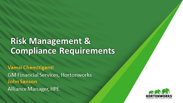 Better Risk Management and Compliance with Hadoop