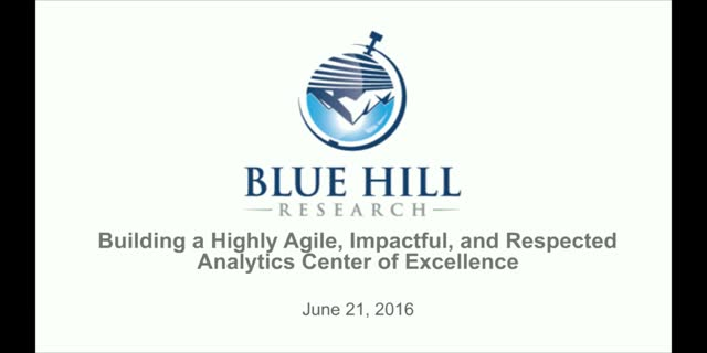 Building a Highly Agile, Impactful, and Respected Analytics Center of Excellence