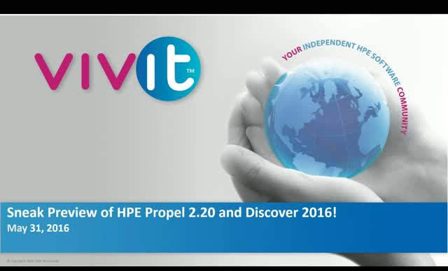 Sneak Preview of HPE Propel 2.20 and Discover 2016!