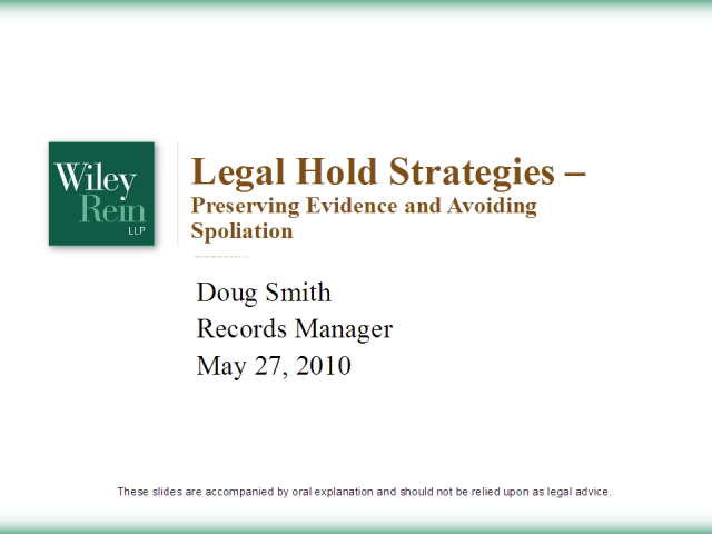 Legal Hold Strategies: Preserving Evidence & Avoiding Spoilation
