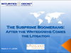 The Subprime Boomerang: After the Writedowns Comes the Litigation
