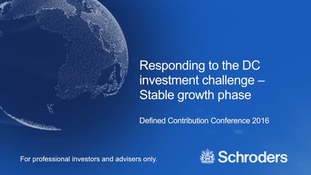 Responding to the DC investment challenge - Stable growth phase