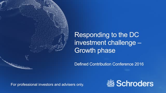 Responding to the DC investment challenge - Growth Phase