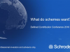 What do schemes want? - The view from Schroders DC Conference 2016