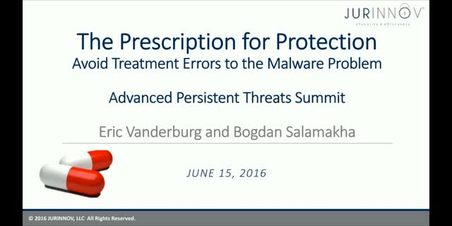 Prescription for Protection - Avoid Treatment Errors To The Malware Problem