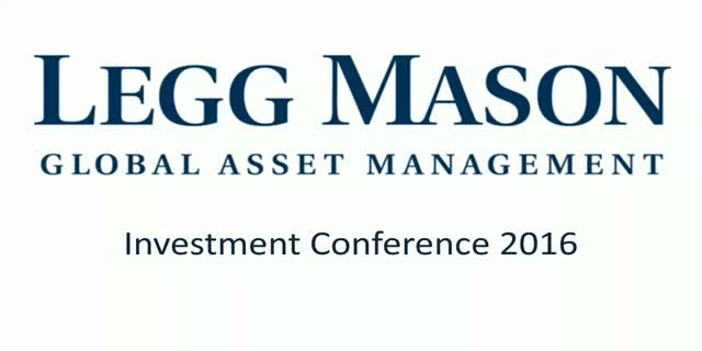Legg Mason Investment Conference 2016 - PM session
