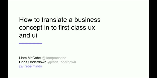 How to Translate Business Concept Into First Class UX & UI