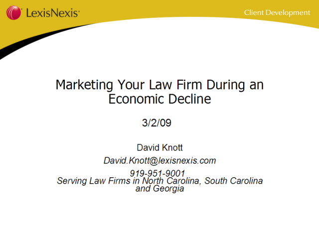 Marketing Your Law Firm During an Economic Decline