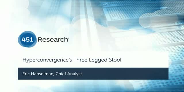 Networking for Hyperconverged Infrastructure – a critical third leg of the stool