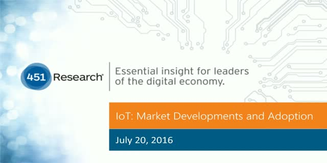 IoT: Market Developments and Adoption