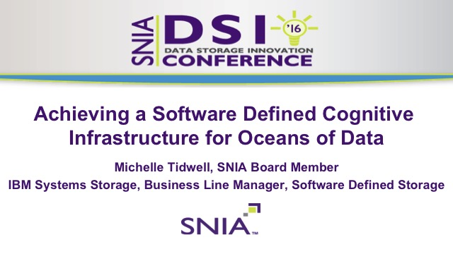 Achieving a Software Defined Cognitive Infrastructure for Oceans of Data