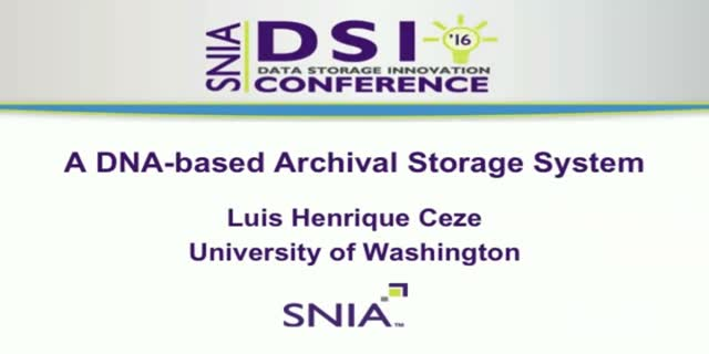 A DNA-based Archival Storage System