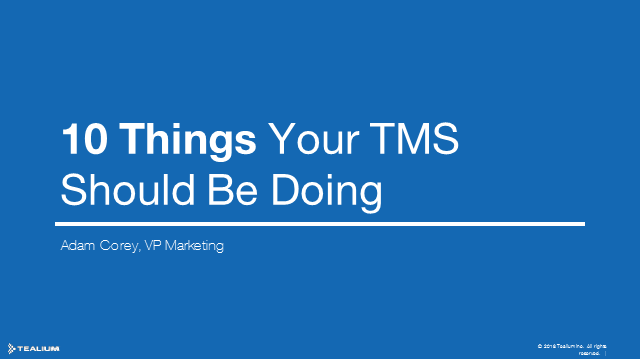 10 Things Your Tag Manager Should be Able to Do