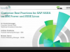 Customer Best Practices for SAP HANA on IBM Power and SUSE Linux
