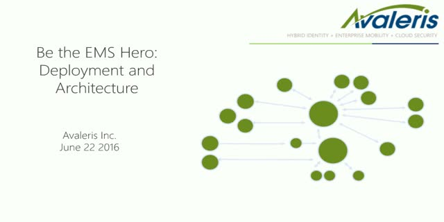 Be the EMS Hero: Deployment and Architecture