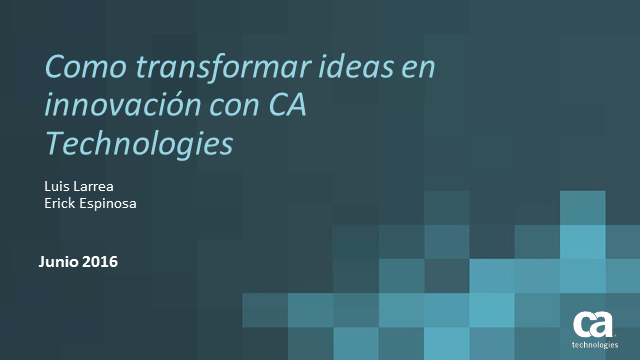 Agile Management: Como transformar ideas en innovación.