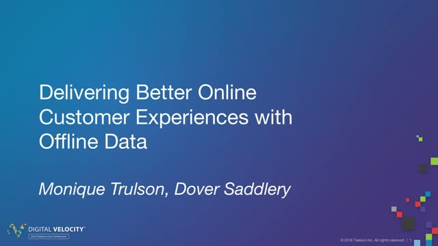 Delivering Better Online Experiences with Offline Data