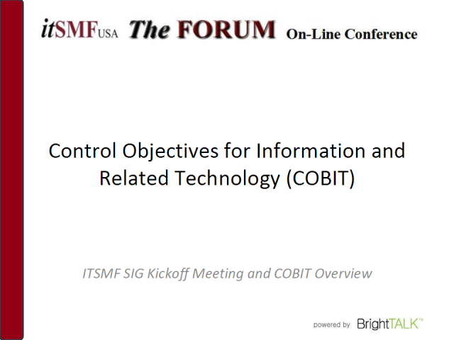 COBIT Fundamentals