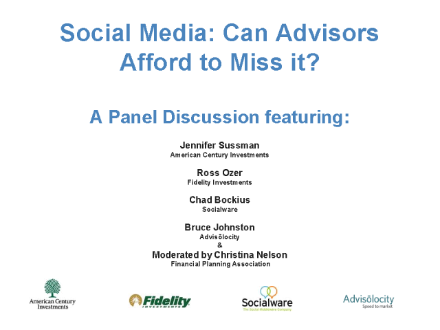Social Media: Can Advisors Afford to Miss It?