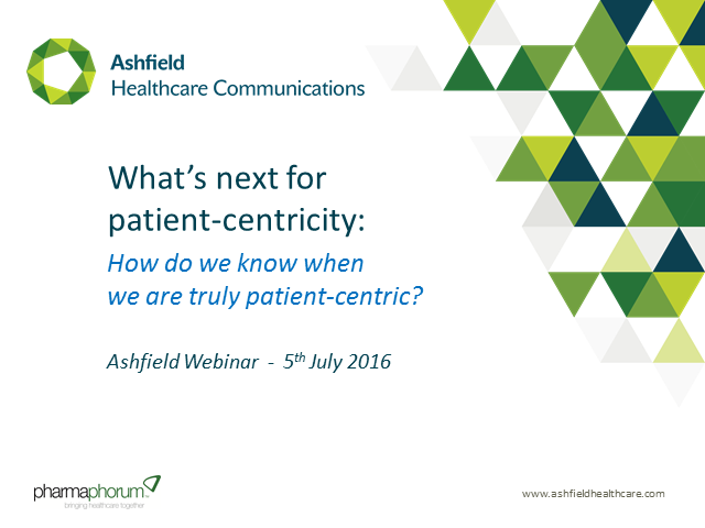 What's next for patient-centricity? How do we know when we are patient-centric?