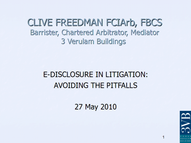 E-disclosure in Litigation: Avoid the Pitfalls