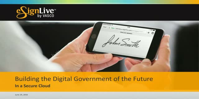 Building the Digital Government of the Future in a Secure Cloud