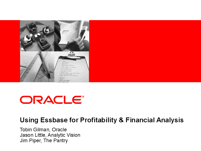 Using Essbase for Profitability & Financial Analysis