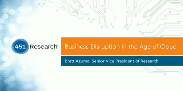 Business Disruption in the Age of Cloud