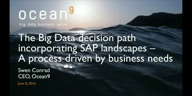 The Big Data decision path incorporating SAP landscapes