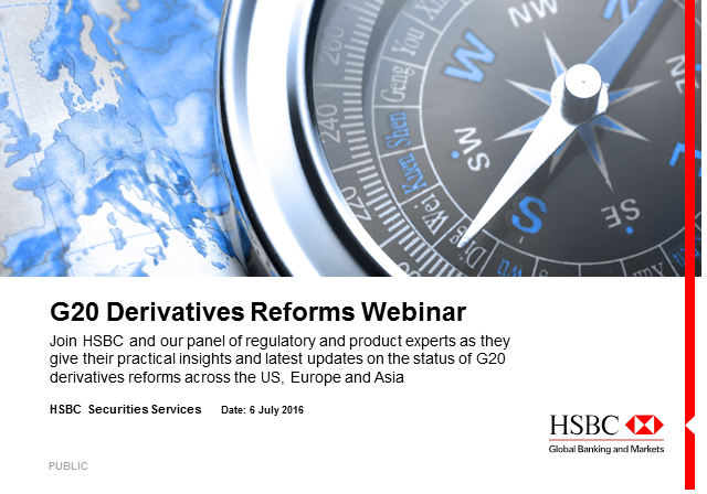 G20 Derivatives Reforms Webinar