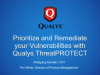 Prioritize and Remediate your Vulnerabilities with Qualys ThreatPROTECT
