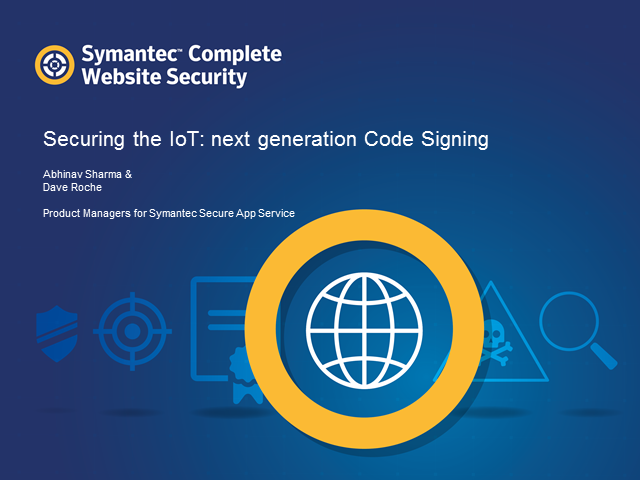 Securing the IoT: next generation Code Signing
