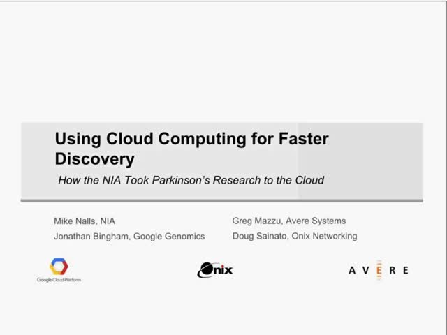 Using Cloud Computing for Faster Discovery
