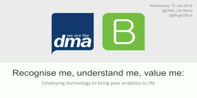 Recognise, Understand, & Value Me – Employing tech to bring analytics to life