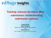 Tracking manuscript status after submission: Understanding submission systems