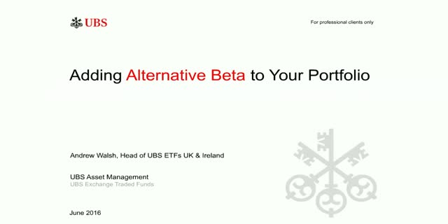 Adding Alternative Beta to your Portfolio