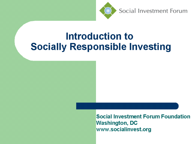 Roundtable: Socially Responsible Investing for Advisors