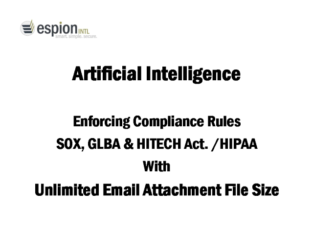 Artificial Intelligence (AI) for enforcing email policies