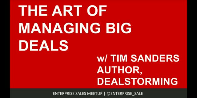 The Art of Managing Big Deals