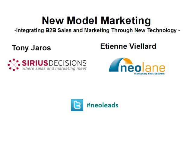 New model marketing: Integrating sales and marketing with tech