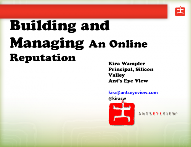 Building and Managing Your Business' Online Reputation