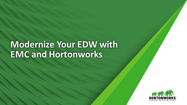 Store More Data and Reduce Costs with an Optimized EDW