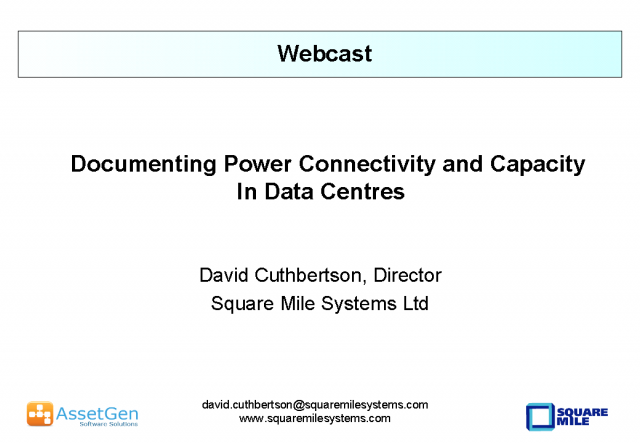 Documenting Power Connectivity and Capacity In Data Centres